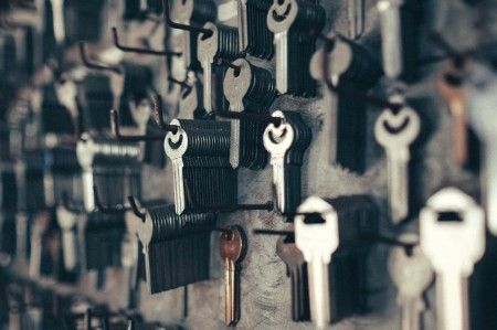 keys hanging store