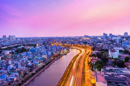 purple sunset ho chi minh city
