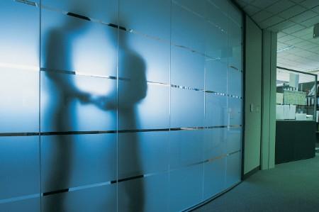 silhouette businessman office
