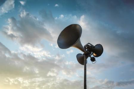 Loudspeakers in sky