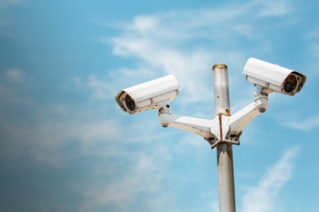 High raised security cameras