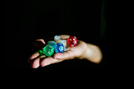 dices on palm