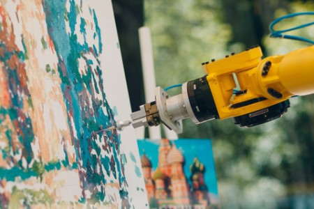 Robotic arm painting