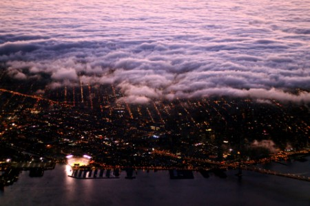San Francisco dawn clouds