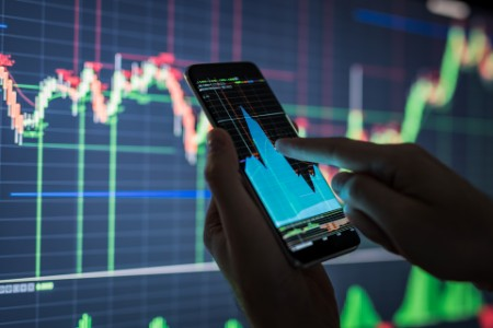 Watching stock market on a smartphone