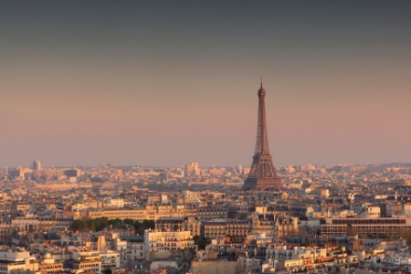 Eiffel tower city view