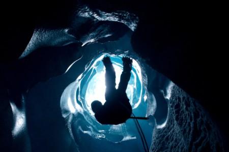 Ice cave climber