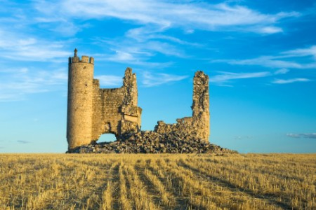 Ruins old medieval castle Spain