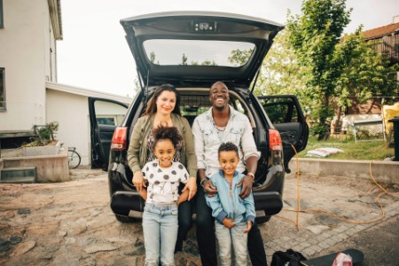 Family by car