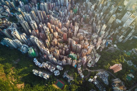 Hong Kong aerial scene