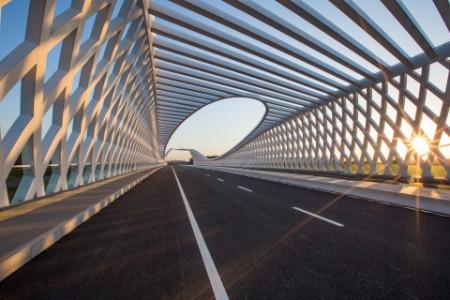 Beiqijia bridge in the sunlight
