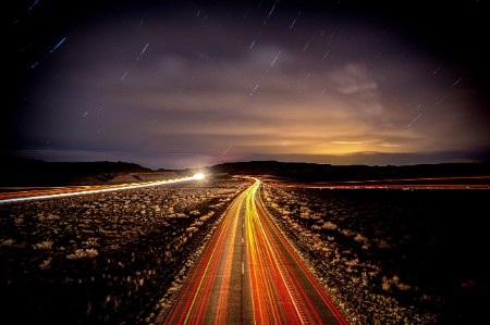interstate highway night background