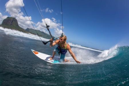man kite surfing in mauritius