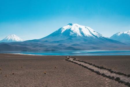 Camino a la montaña salar Chile