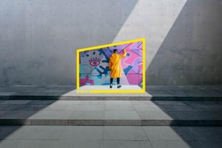 EY reframe your future graffiti artist