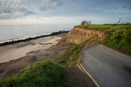 Severe coastal erosion