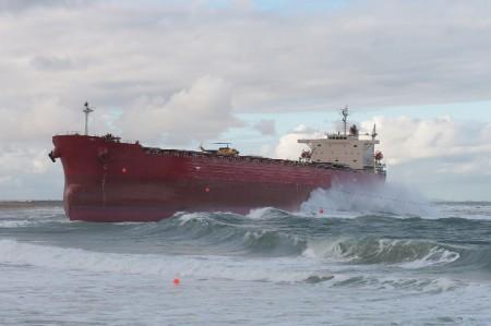Gestrandetes Containerschiff