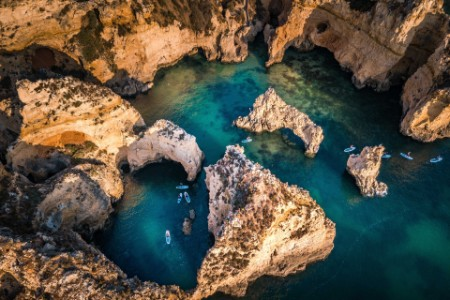 Algarve aerial view in the morning