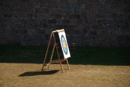 archery taget arrows castle wall Sapin
