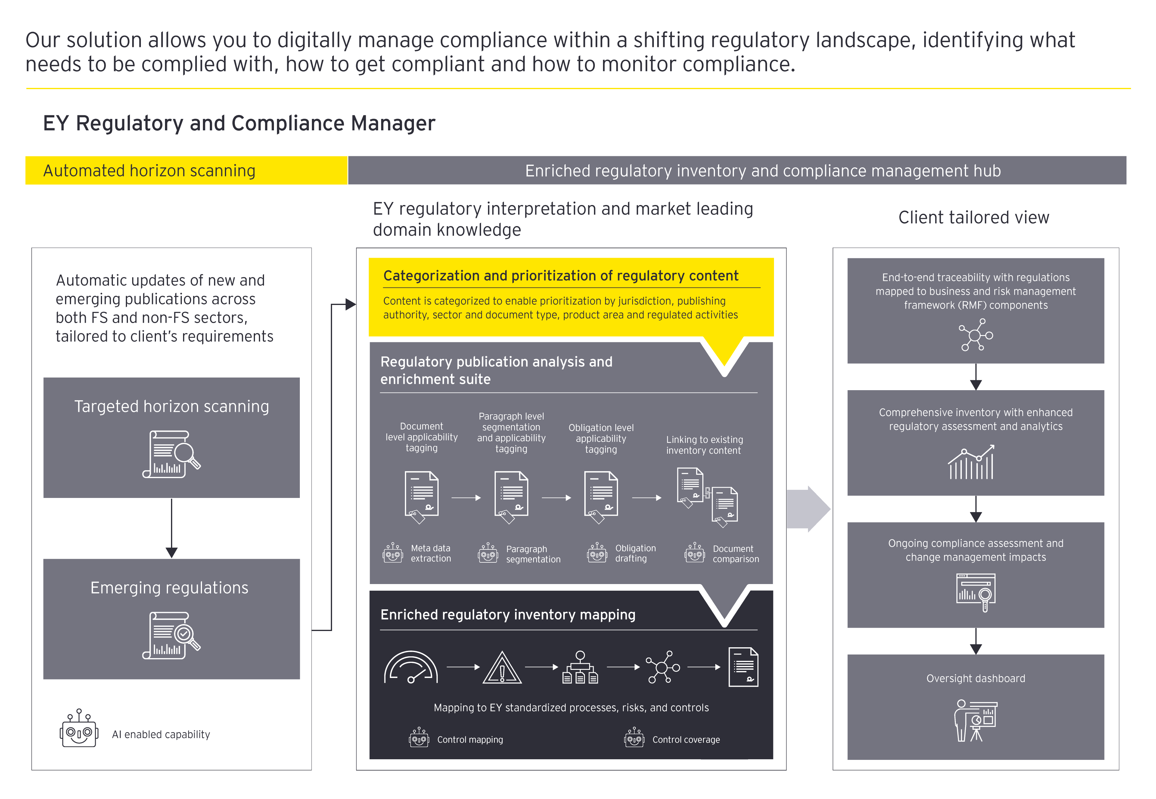 EY Regulatory and Compliance Manager.