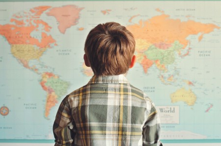 little boy world map