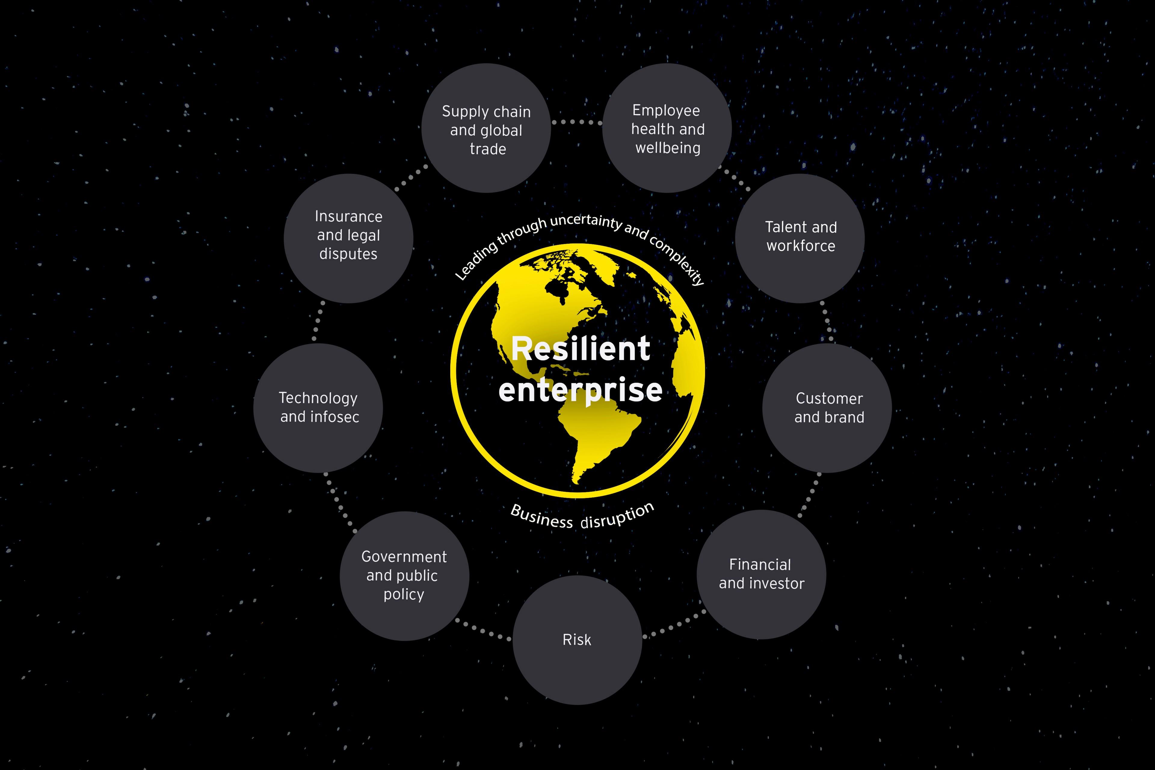 Enterprise resilience framework infographic
