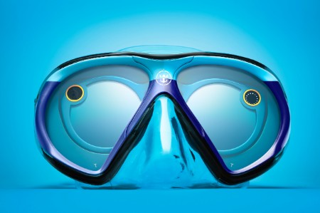 The SeaSeeker mask was custom engineered by Royal Caribbean, and allows the wearer to take and share photos while underwater.