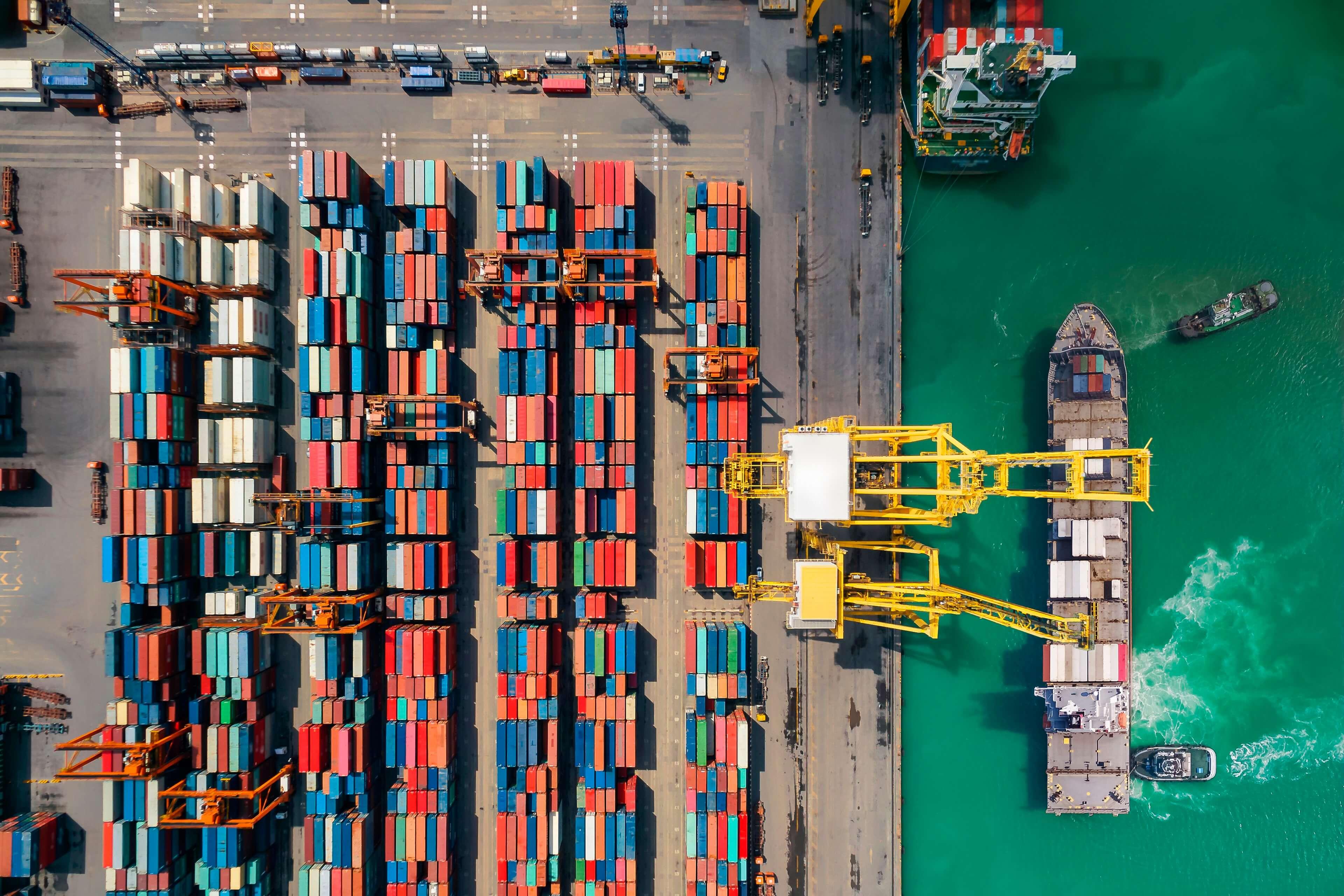 Shipping yard image