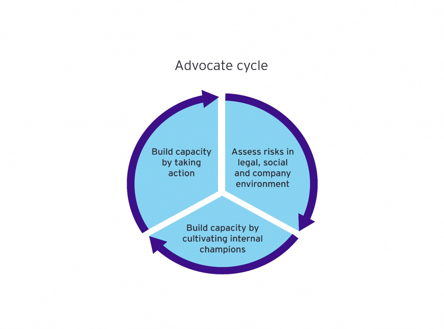 Advoctate cycle graphic