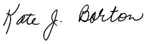 Firma di Kate Barton