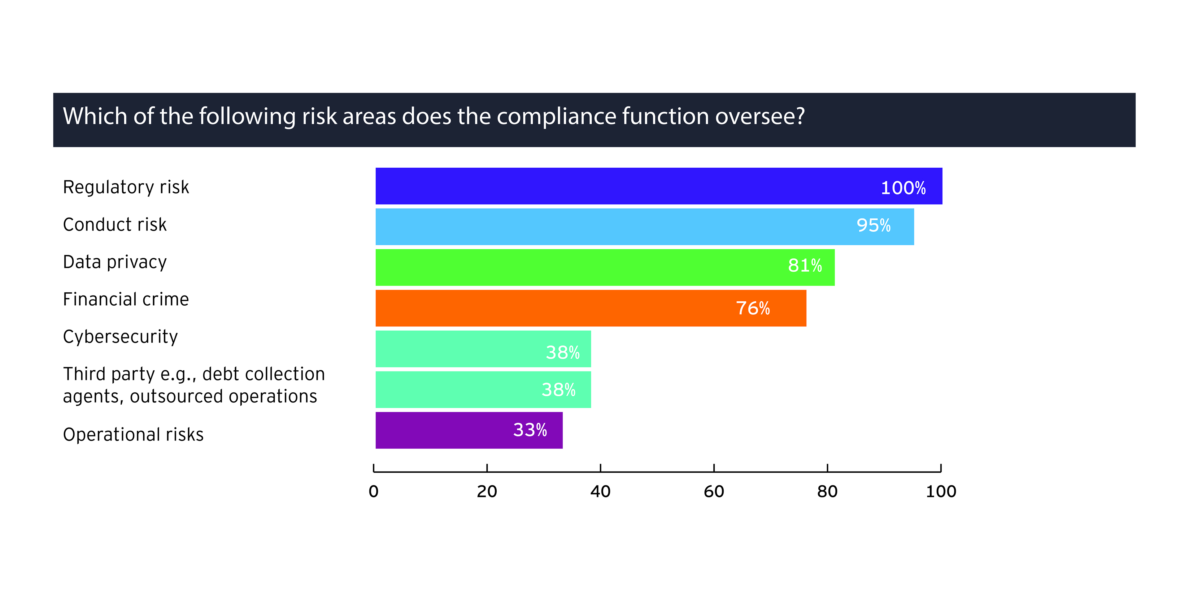 Which of the ris k areas does the compliance function oversee