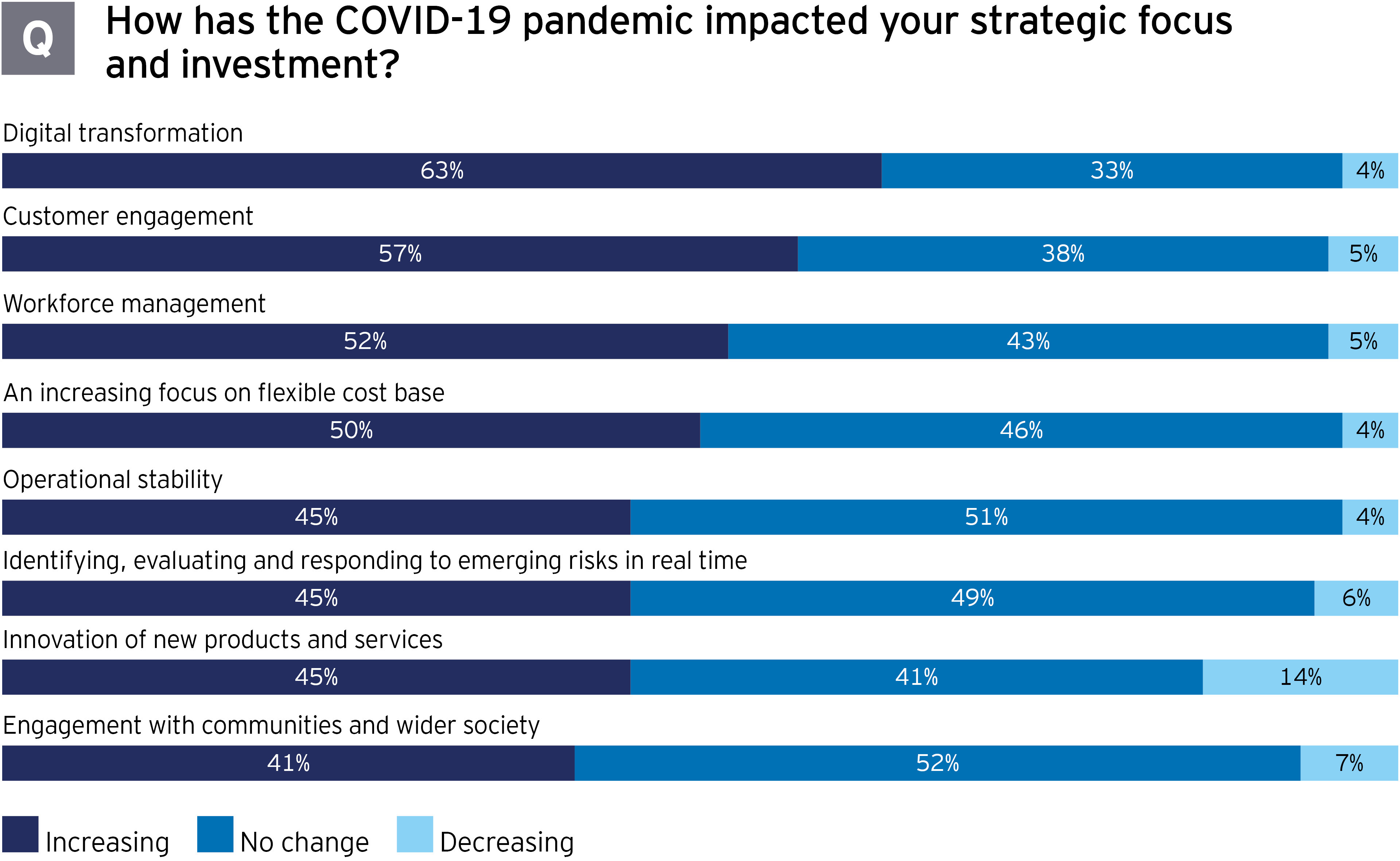 Government and infrastructure pandemic impact on strategic focus and investment