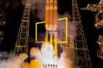 Delta IV heavy rocket launches solar probe