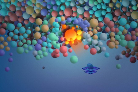 Illustrazione di fusione di Fcn bubble shooter