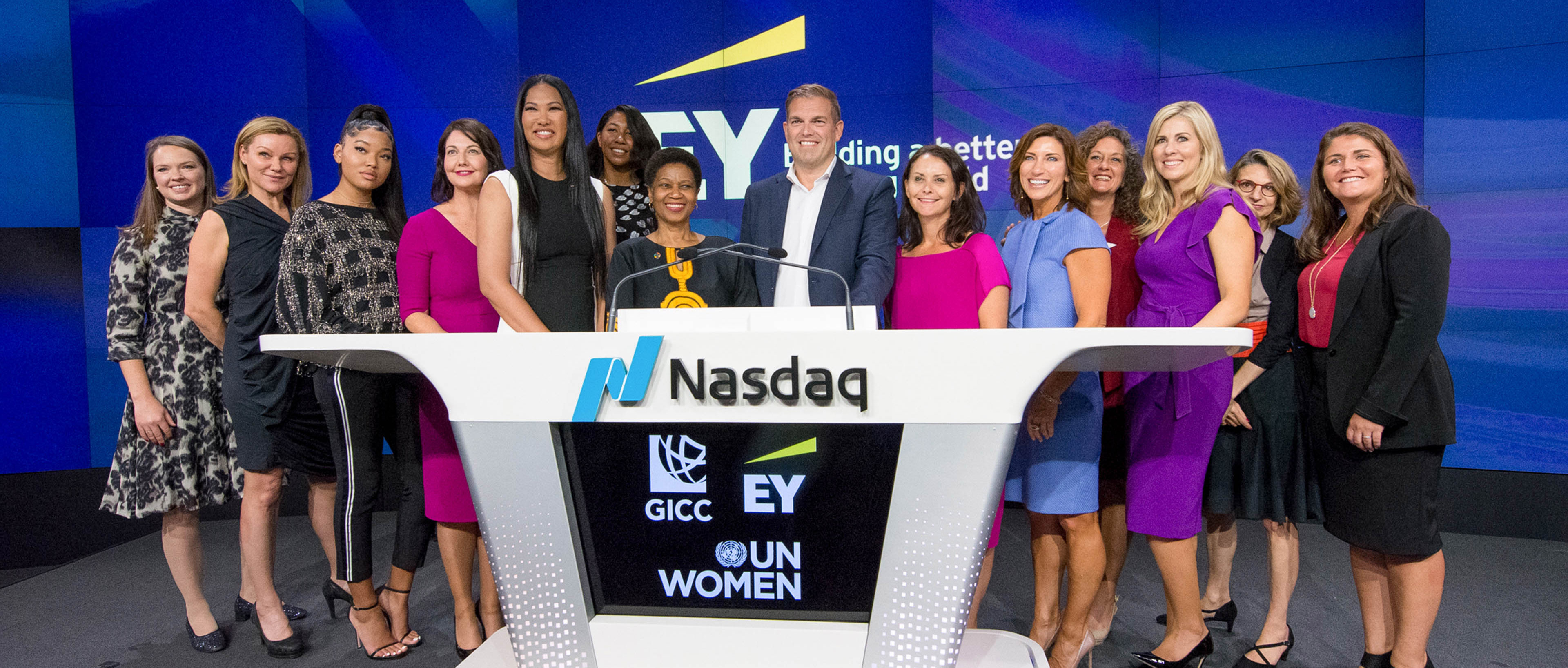 Women at the NASDAQ for GICC