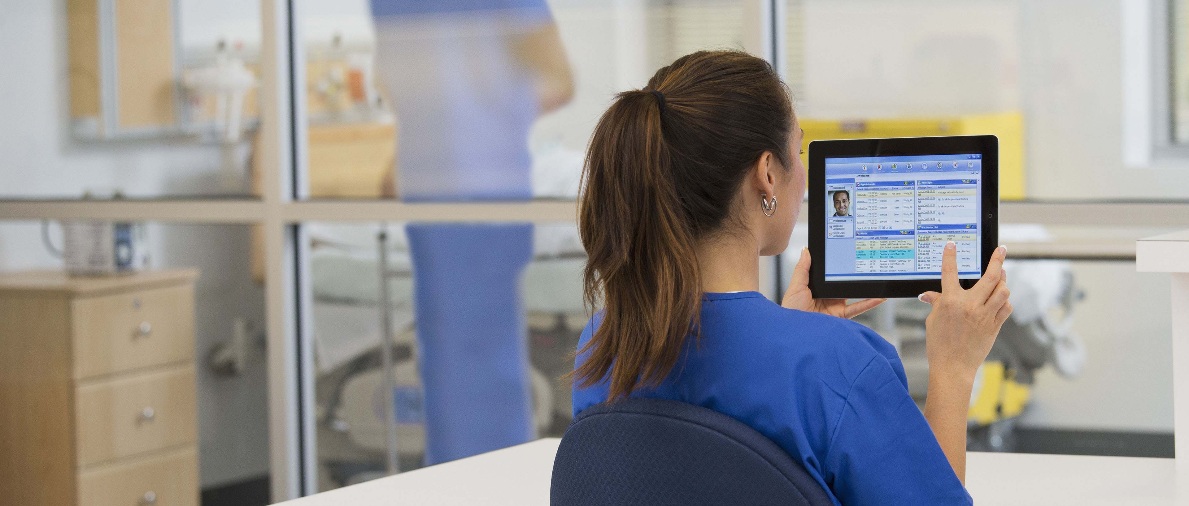 Nurse with tablet