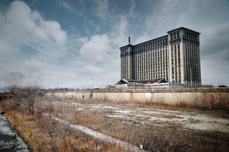 The derelict Michigan Train Station
