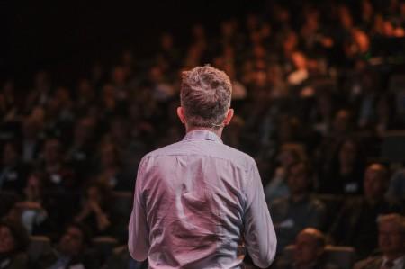 Man talking to audience