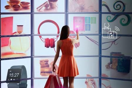 Shopping in einem virtuellen Store