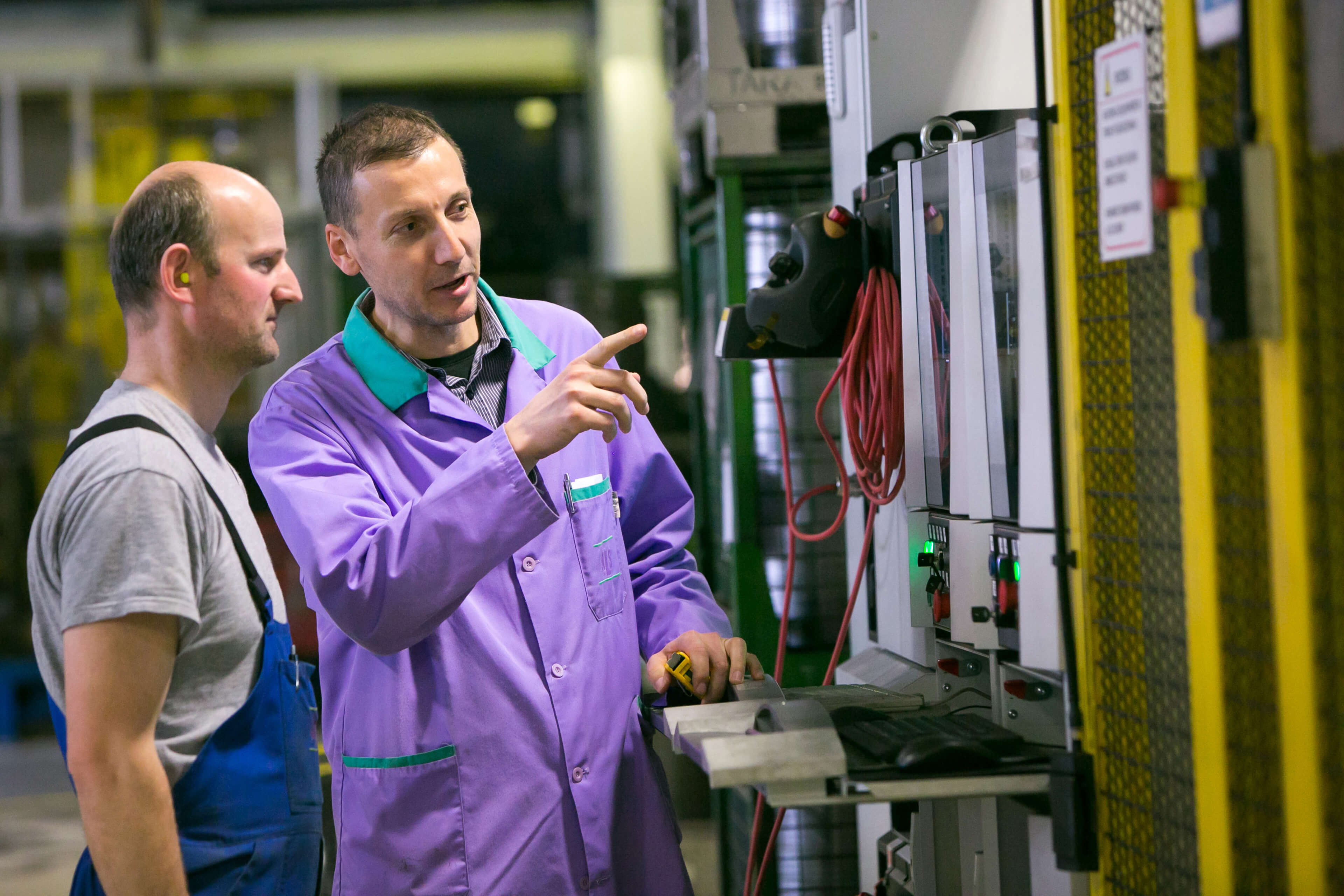 Franci Bevci of KLS Ljubno working in the company facilities