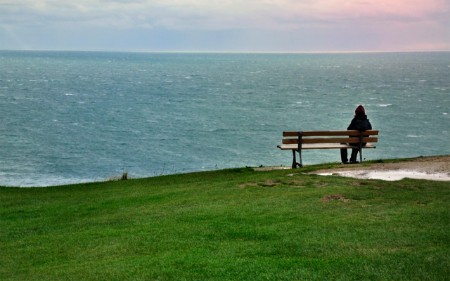 Someone looking out over English channel