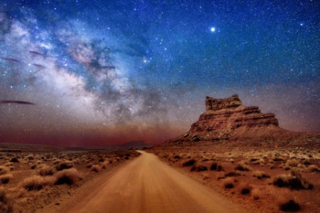 Milky Way Sitting Hen Butte Valley of the Gods Utah