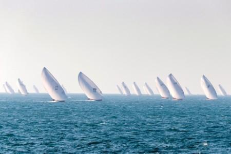 Racing regatta yachts