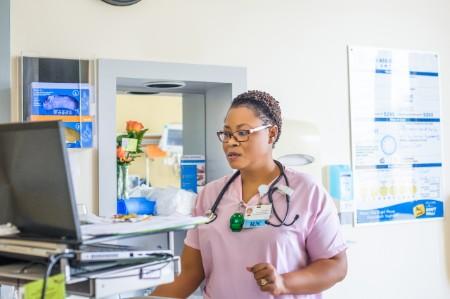 nurse working hospital