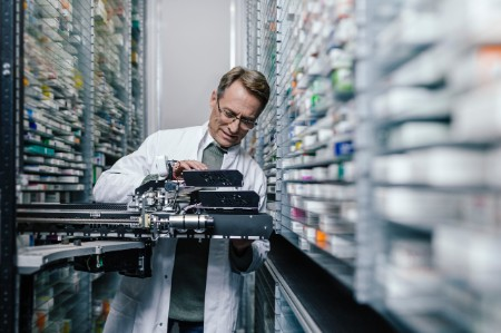 man working with medical robotic process automation