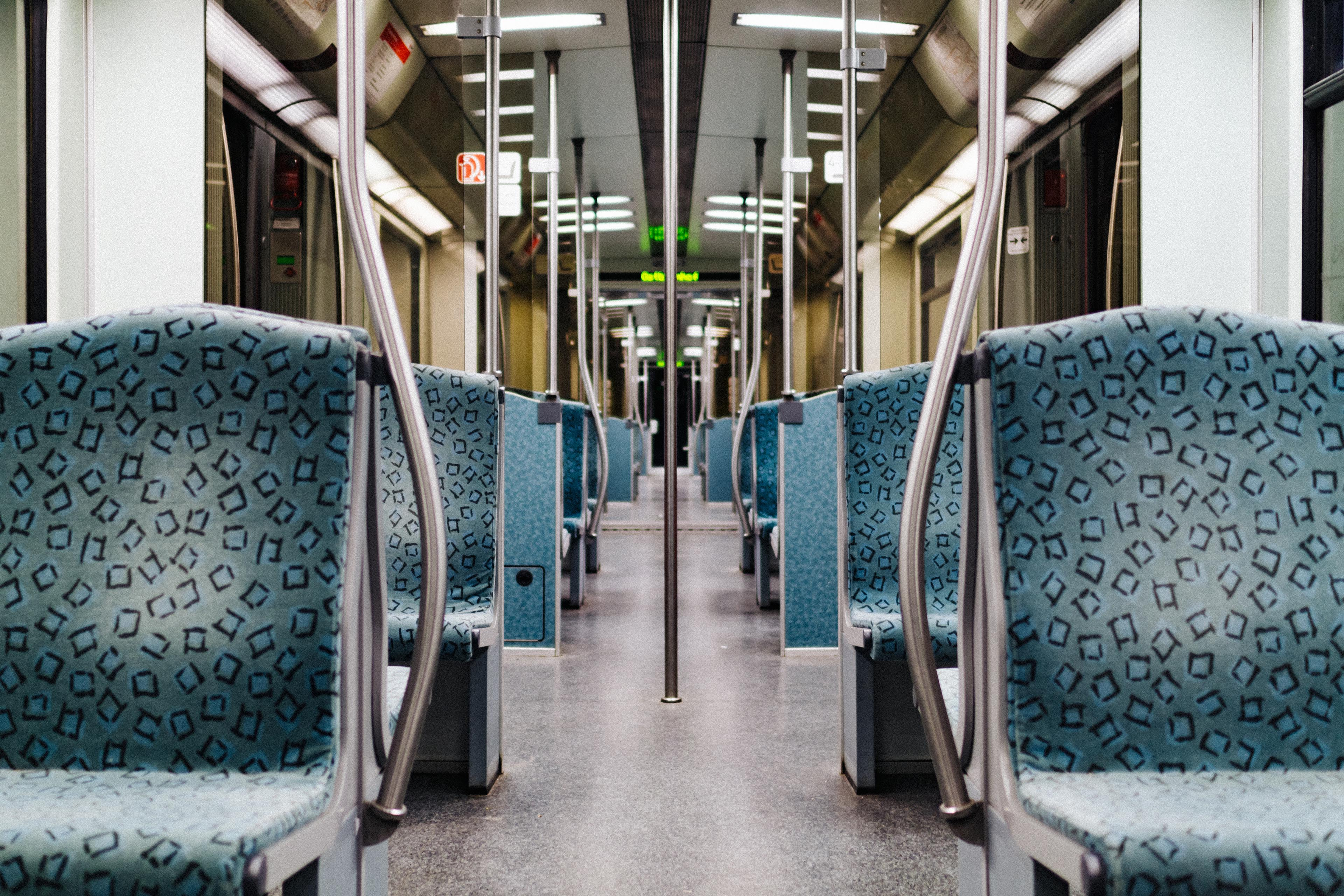 empty passenger train