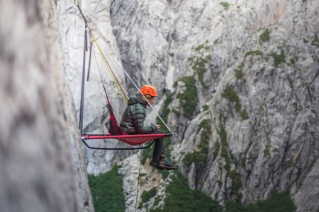 Woman sitting on portaledge ChileImage downloaded by Charlie Brewer at 15:44 on the 10/06/19