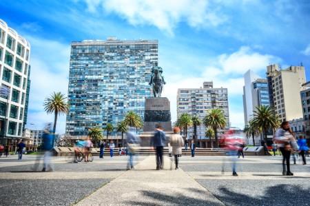 Plaza in Montevideo Uruguay