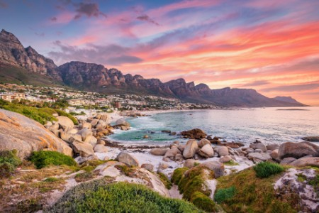 Camps bay Cape Town vibrant sunset twilight South