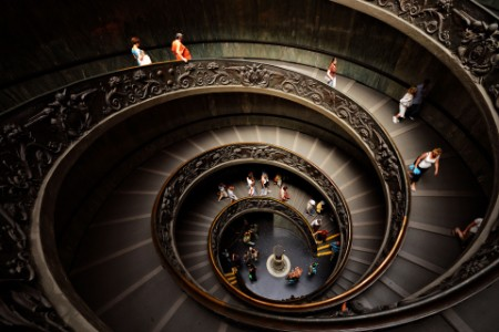 Helicoid staircase by giuseppe momo vatican museum